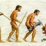 El progreso del hombre primitivo, en hebreo
